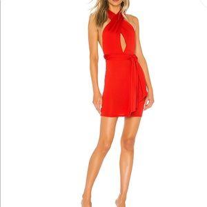 Superdown Red Multi-way Dress
